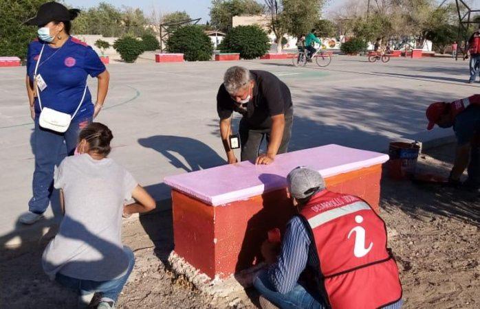 Colabora desarrollo social con ipacult remozado parque