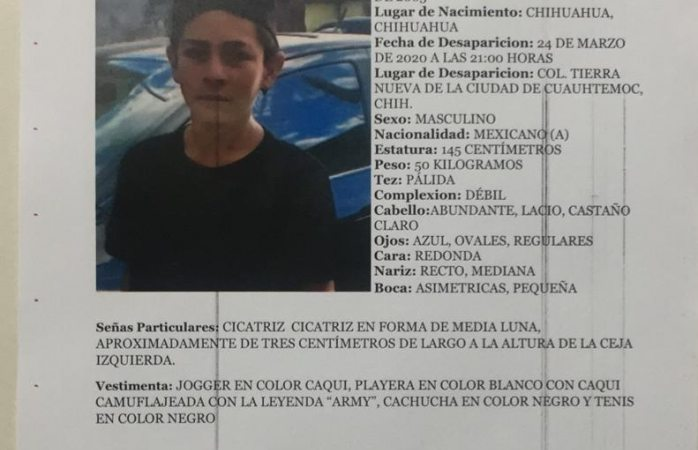 Piden ayuda para localizar a Gerardo Juárez