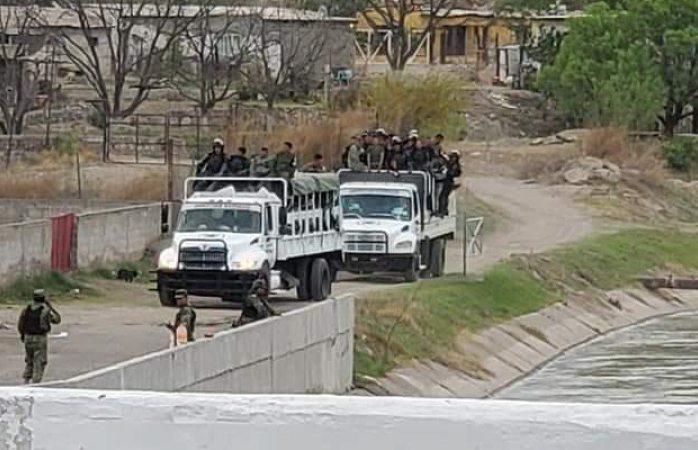 Se reagrupa gn, llega convoy de soldados a Las Pilas