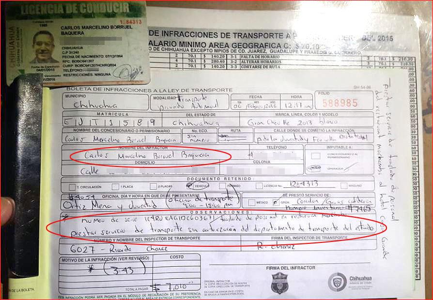 Hasta de taxista pirata la hizo Carlos Borruel