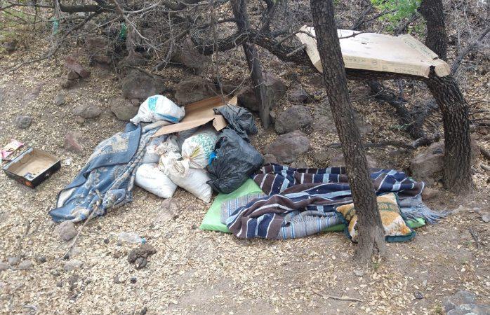 Hallan 35 kilos de mariguana abandonados en campamento
