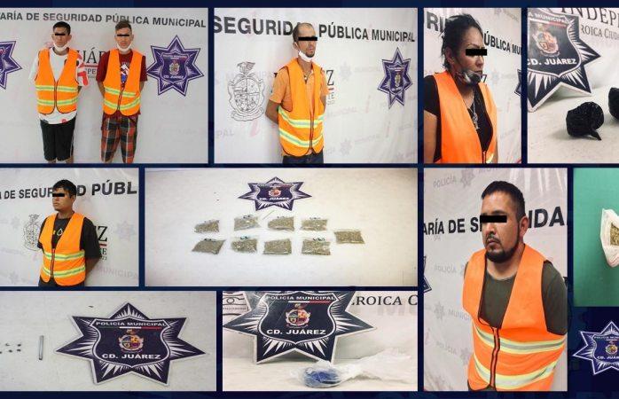Capturan a seis presuntos narcomenudistas