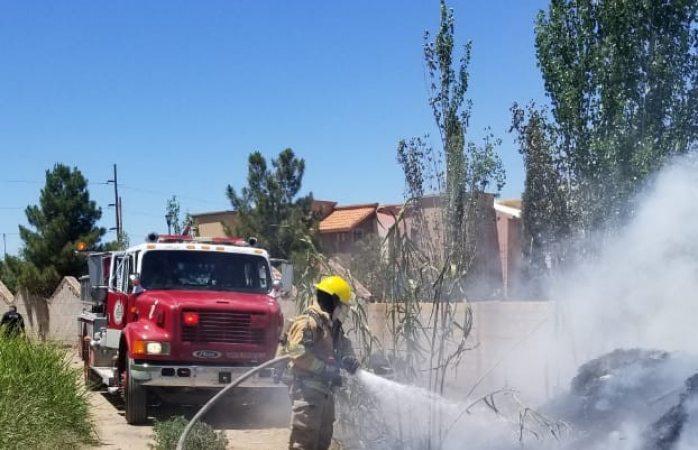 Atienden bomberos 2 incendios y una fuga de gas