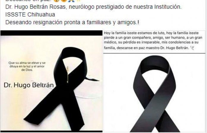 Fallece neurólogo del issste víctima de covid