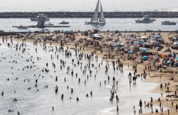 Playas llenas en fin de semana festivo en ee.uu pese a advertencia
