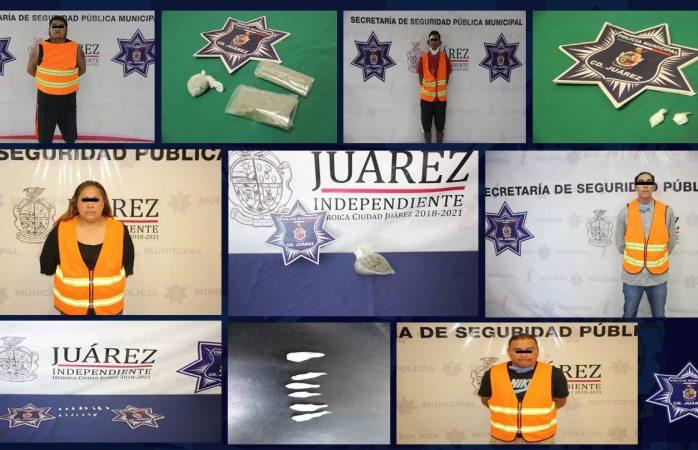 Caen cinco presuntos narcomenudistas