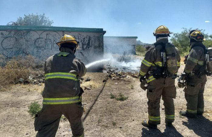 Extingue heroico cuerpo de bomberos incendio en baldío