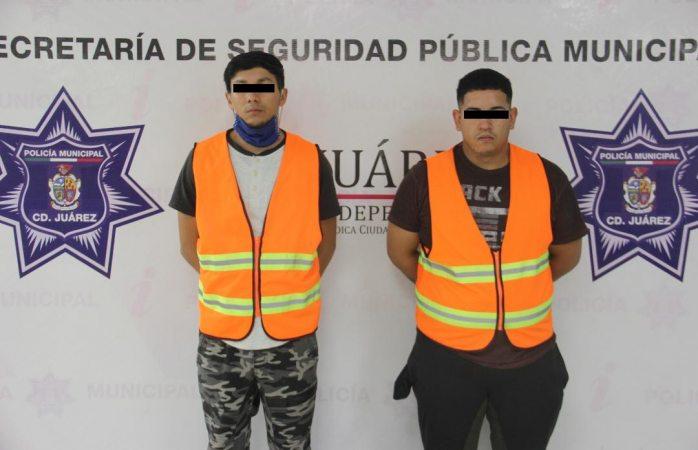 Arrestan a dos presuntos narcomenudistas en la colonia héroes de la revolución