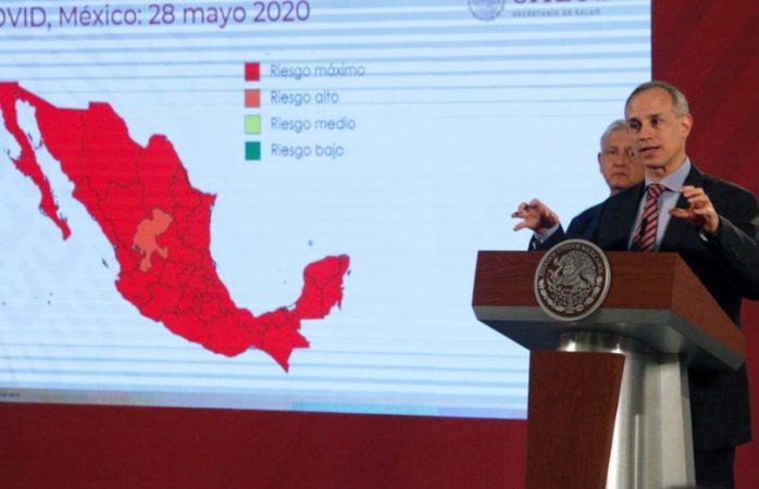 Todo México está en riesgo máximo de covid excepto Zacatecas
