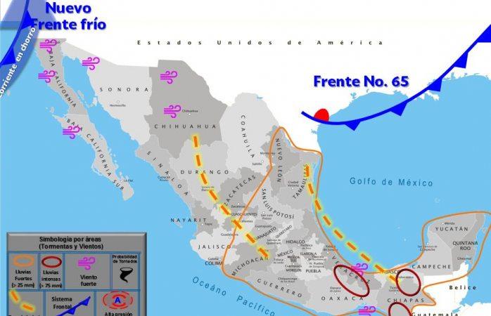 Pronostican fuertes vientos en chihuahua por frente frío