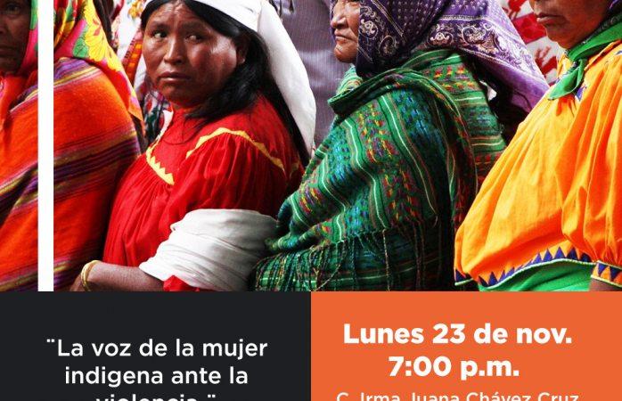 Organizan conferencia virtual vs violencia a la mujer indígena