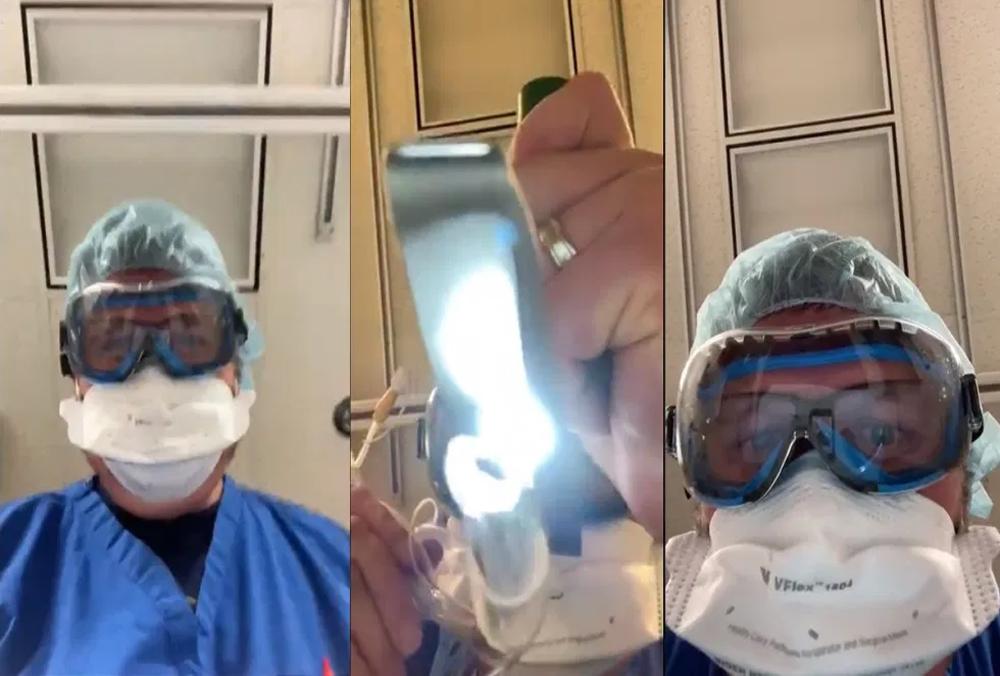 Intenta médico concientizar sobre medidas sanitarias simulando intubación