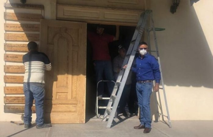 Siguen avances de remodelación y rehabilitación en iglesia de maravillas