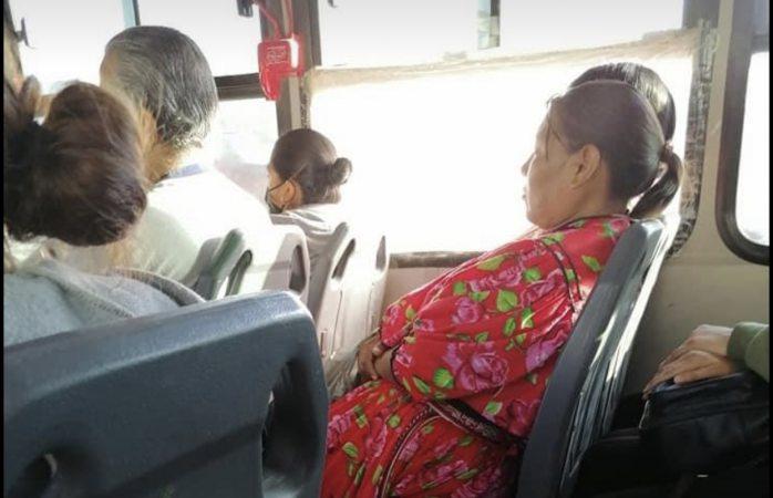Captan a pasajeros de camión ruta 15 sin cubreboca