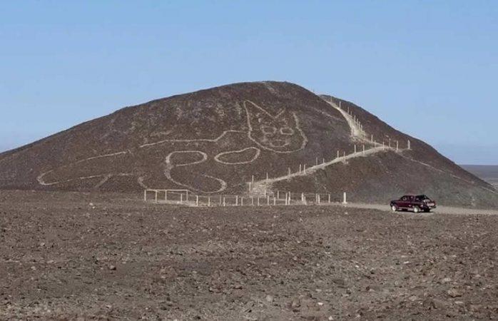 Hallan gigante geoglifo de 2 mil años en nasca