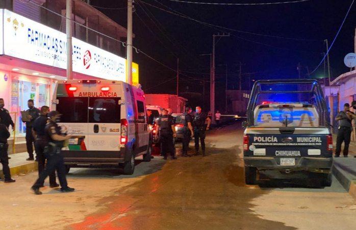 Herido de bala llega a farmacia similares para ser atendido