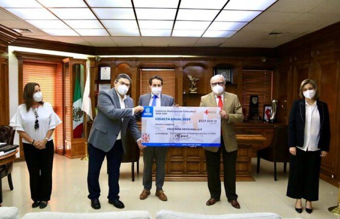 Dona municipio más de 327 mil pesos a cruz roja