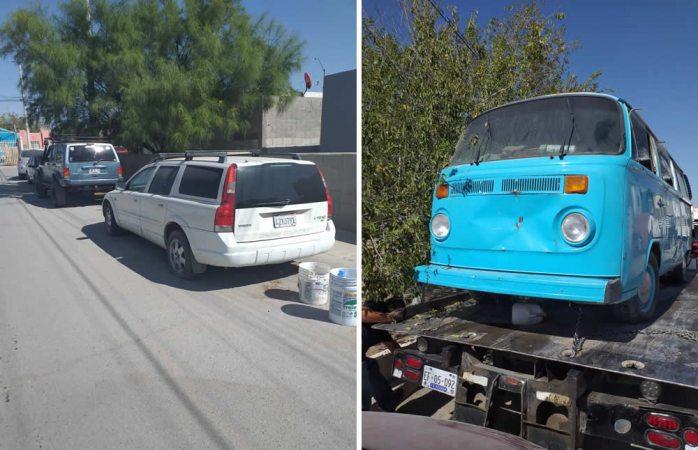 Se lleva seguridad vial autos mal estacionados