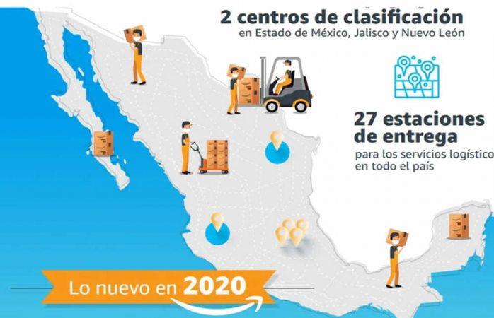 Anuncia amazon nueva sede y centros de envío en méxico