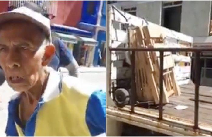 Vídeo: Le decomisan a abuelito las sillas que vendía
