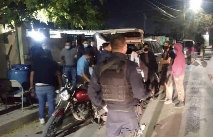 Revienta la policía 106 pachangavirus en juárez