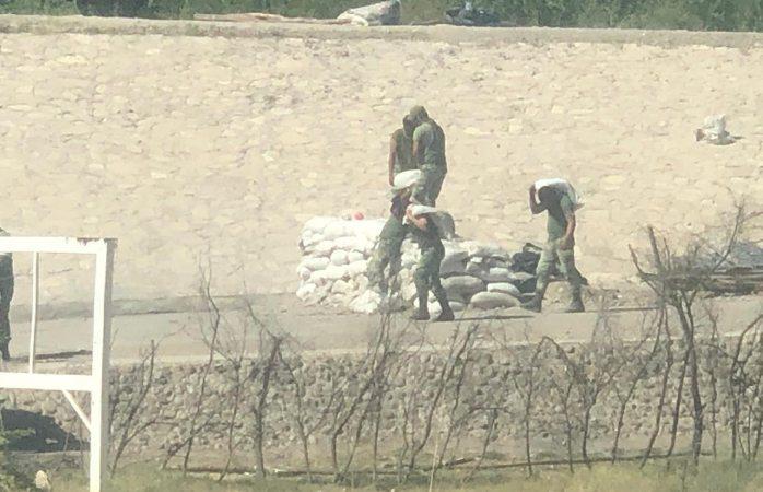 Levanta guardia nacional campamento en las pilas; ¿se retiran?