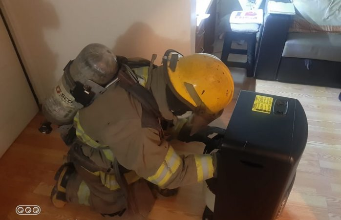 Se llevan susto por fuga de gas cerca de calentón