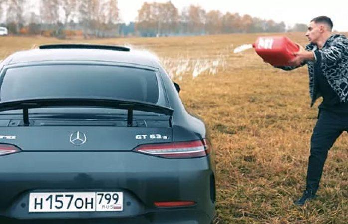 Quema youtuber su automovil de más de 150.000 euros