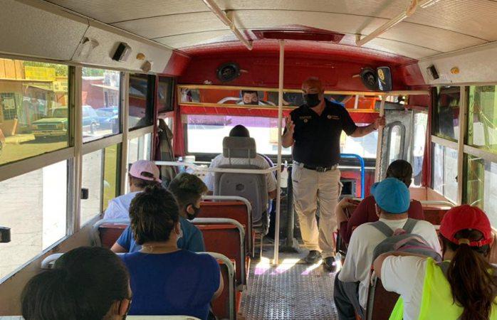 Supervisa pc rutas de transporte público para aplicar medidas vs covid