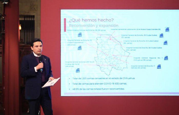 Despliega imss reconversión hospitalaria en Chihuahua para llegar a 789 camas