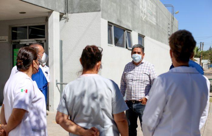 Alcalde anuncia desinfección de hospitales