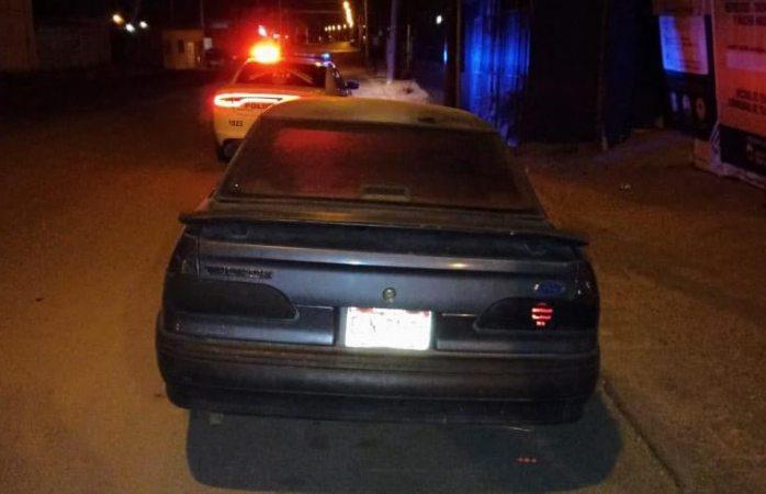 Recuperan vehículo con reporte de robo en el r almada