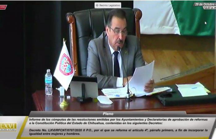 Presentan cómputo para reformar diversos artículos de la constitución del estado