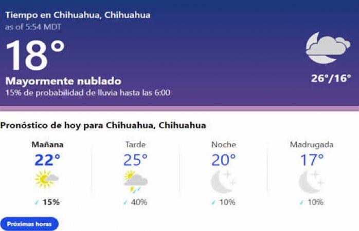 Esperan lluvias aisladas y más humedad en la ciudad