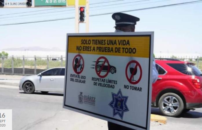 Piden no utilizar distractores al manejar para evitar choques