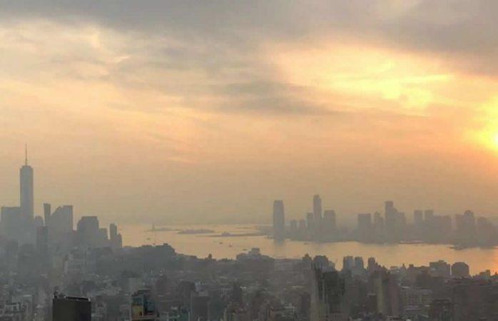 Llega humo de incendios en california hasta nueva york