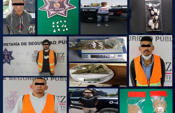 Capturan a 6 presuntos narcomenudistas