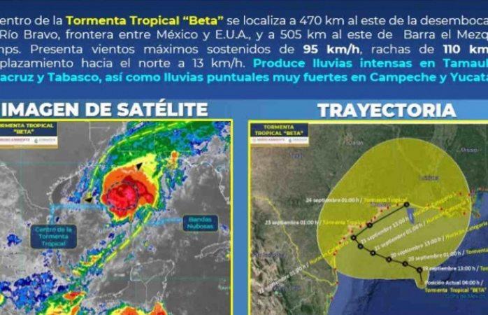 Podrían llegar a chihuahua lluvias por tormenta beta