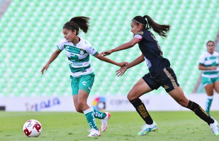 Santos laguna femenil a segundos de la victoria en casa