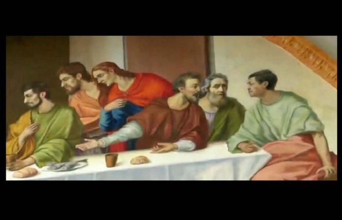 Se incluye sacerdote de puebla en pintura de última cena