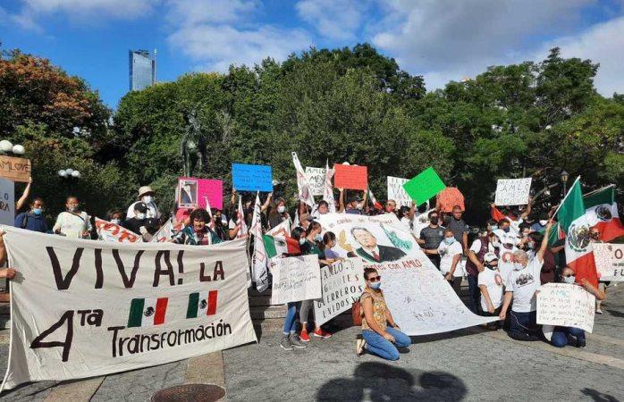 Amlovers manifiestan su apoyo a amlo en nueva york