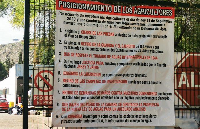 Exhiben agricultores peticiones; si no nos cumplen no nos vamos a quitar