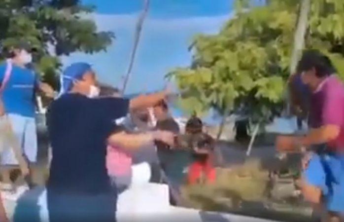 Se arma pelea campal entre pescadores en campeche