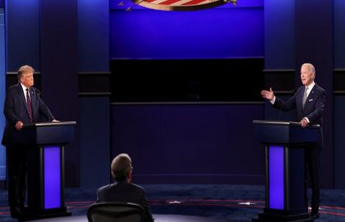 Primer debate presidencial entre trump y biden