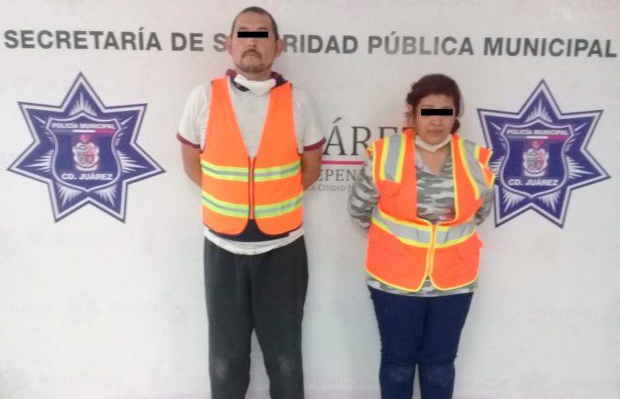 Detienen a pareja de presuntos narcomenudistas en motel
