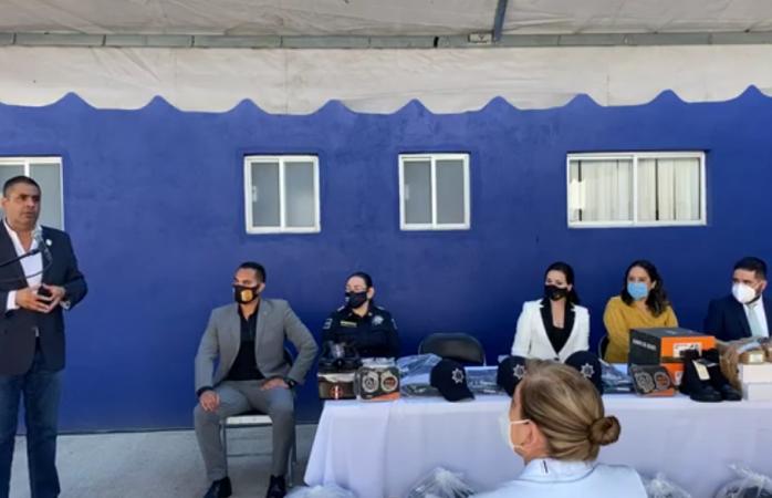 Anuncia alcalde lozoya lotes para elementos de la policía